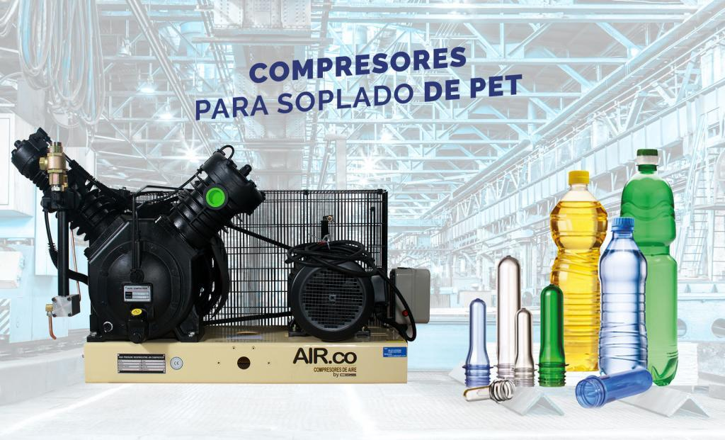 Compresores para soplado de pet