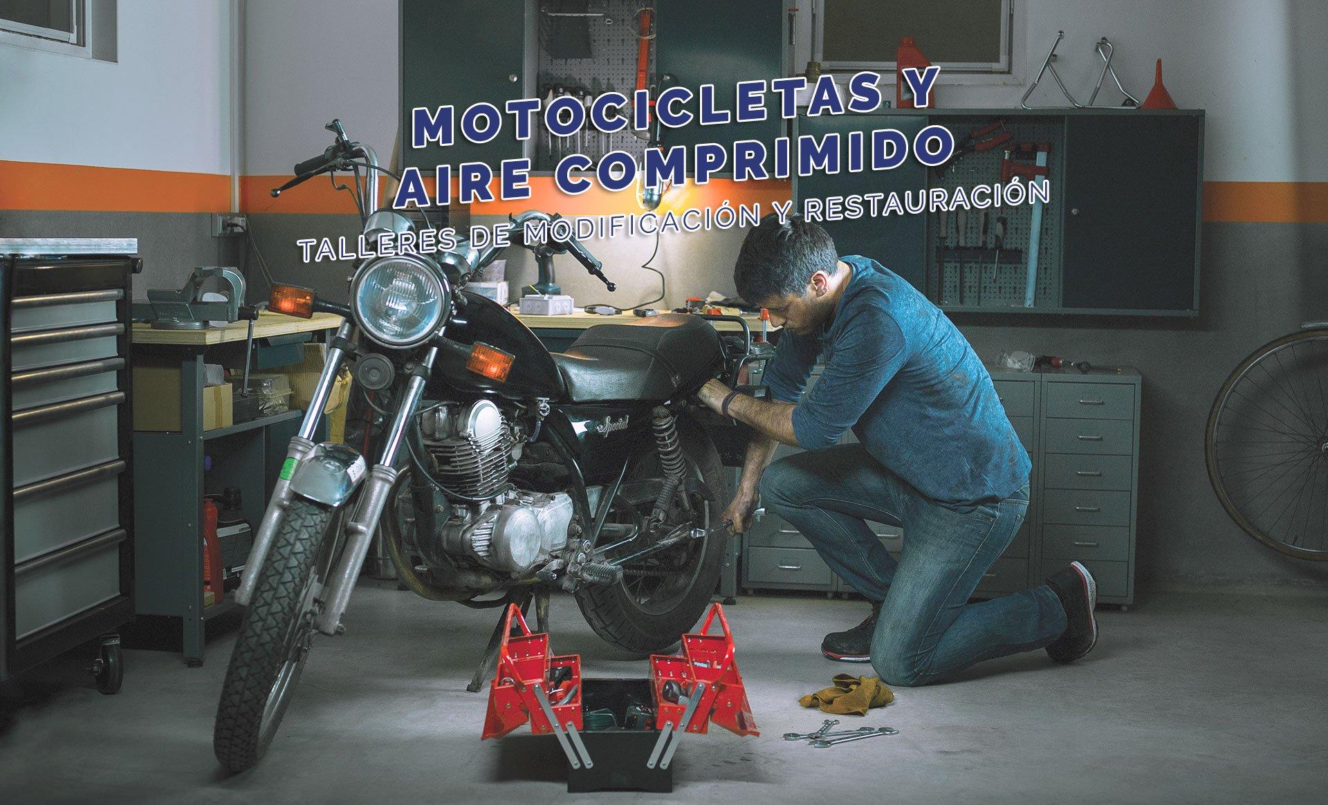 motocicletas y aire comprimido