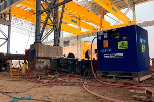 Estructuras-metálicas--Compresor-de-tornillo-CBS-XV-50-Hp-GDL